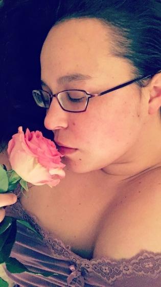 meghann andreassen, girl with rose